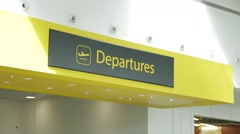 Gatwick Departure Sign Stock Footage