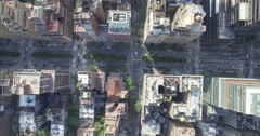 Aerial of cityscape in New York city Stock Footage