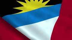 Realistic Antigua and Barbuda flag Stock Footage