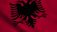 Realistic Albania flag Stock Footage