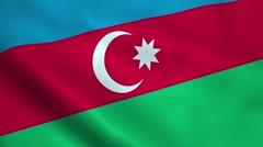 Realistic Azerbaijan flag Stock Footage