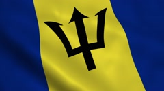 Realistic Barbados flag Stock Footage