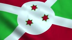 Realistic Burundi flag Stock Footage