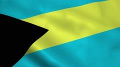 Realistic Bahamas flag Stock Footage