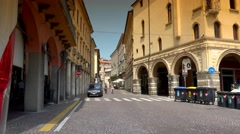 ULTRA HD 4k, street in a historical center of Padova, Italy Stock Footage