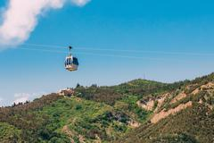 Aerial Lift Cableway In Tbilisi, Georgia. Blue Sky In Summer Day Kuvituskuvat