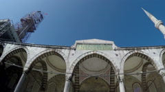 The Sultan Ahmed Blue Mosque in Istanbul Stock Footage