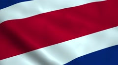 Realistic Costa Rica flag Stock Footage