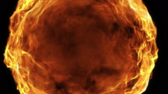 Fire ball animation Stock Footage