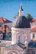 Cathedral the Assumption of the Virgin Mary in Dubrovnik Stock Photos