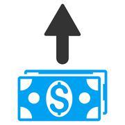 Send Banknotes Flat Vector Icon Stock Illustration