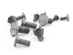 Screws isolated on white Stock Illustration