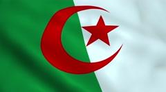 Realistic Algeria flag Stock Footage