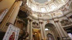 Dominican monastery and cathedral Lviv.close up Stock Footage
