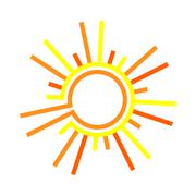 Flat the sun Stock Illustration