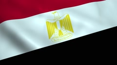 Realistic Egypt flag Stock Footage