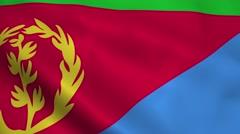 Realistic Eritrea flag Stock Footage