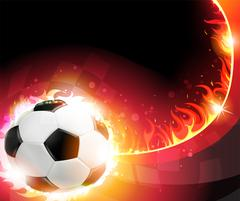 Burning soccer ball Stock Illustration