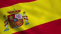 Realistic Spain flag Stock Footage