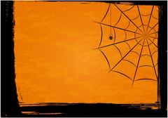 Background with spiders and web Stock Illustration