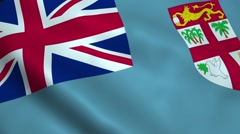 Realistic Fiji flag - stock footage
