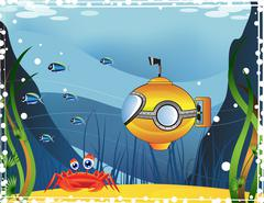 Underwater landscape Stock Illustration