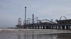 Galveston Pleasure Pier Stock Footage
