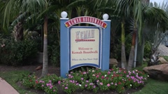 Welcome to Kemah Boardwalk Sign. Stock Footage