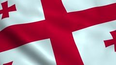 Realistic Georgia flag Stock Footage
