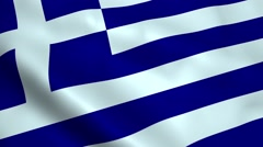 Realistic Greece flag Stock Footage