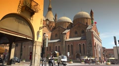 Basilica of Saint Anthony of Padua, ULTRA HD 4k, real time. - stock footage