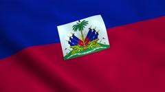 Realistic Haiti flag - stock footage