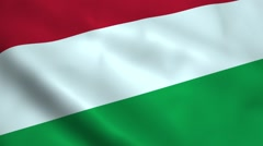 Realistic Hungary flag Stock Footage