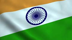 Realistic India flag Stock Footage