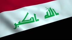 Realistic Iraq flag Stock Footage