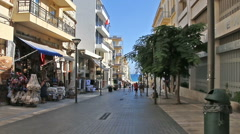 Heraklion, Crete Island, Greece: The streets of the old town Stock Footage