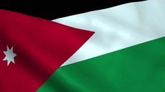 Realistic Jordan flag Stock Footage