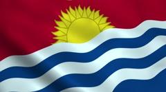 Realistic Kiribati flag Stock Footage