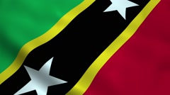 Realistic Saint Kitts and Nevis flag Stock Footage