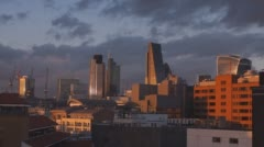 Sunset over London City Stock Footage