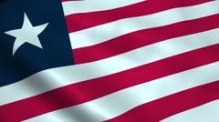 Realistic Liberia flag Stock Footage