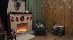 Christmas decorations on the Christmas tree Stock Footage