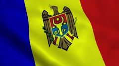 Realistic Moldova flag Stock Footage