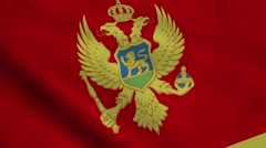 Realistic Montenegro flag Stock Footage