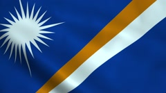 Realistic Marshall Islands flag Stock Footage