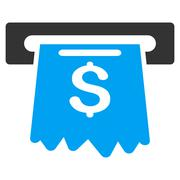 Cash Machine Flat Vector Icon - stock illustration