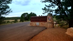 Grand Canyon entrance Stock Footage