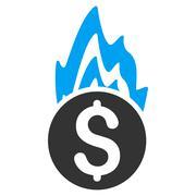 Fire Damage Flat Vector Icon Stock Illustration