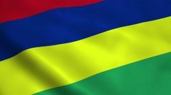 Realistic Mauritius flag - stock footage