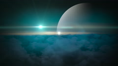 Science fiction planet background Stock Footage